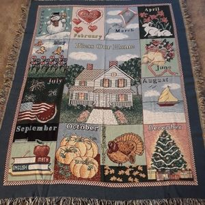 NWOT Bless Our House throw blanket